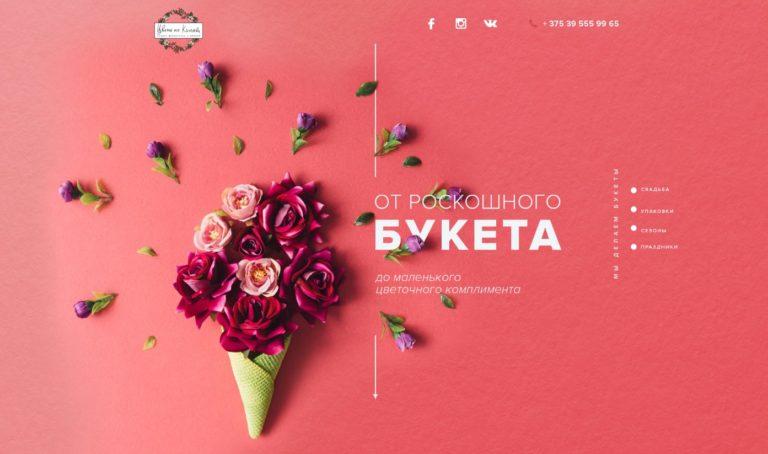 Цвета на Киселева дизайн главной секции